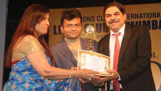 lions club award Dr. H D Pai 2014