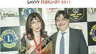 Dr. Rishma And Dr. Hrishikesh Pai at the Lions Award 2011