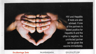Hiv and Hepatitis B tests are also advised