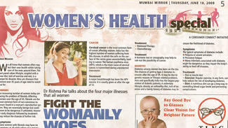 Fight The Womanly Woes (Mumbai Mirror) 18 June 2009